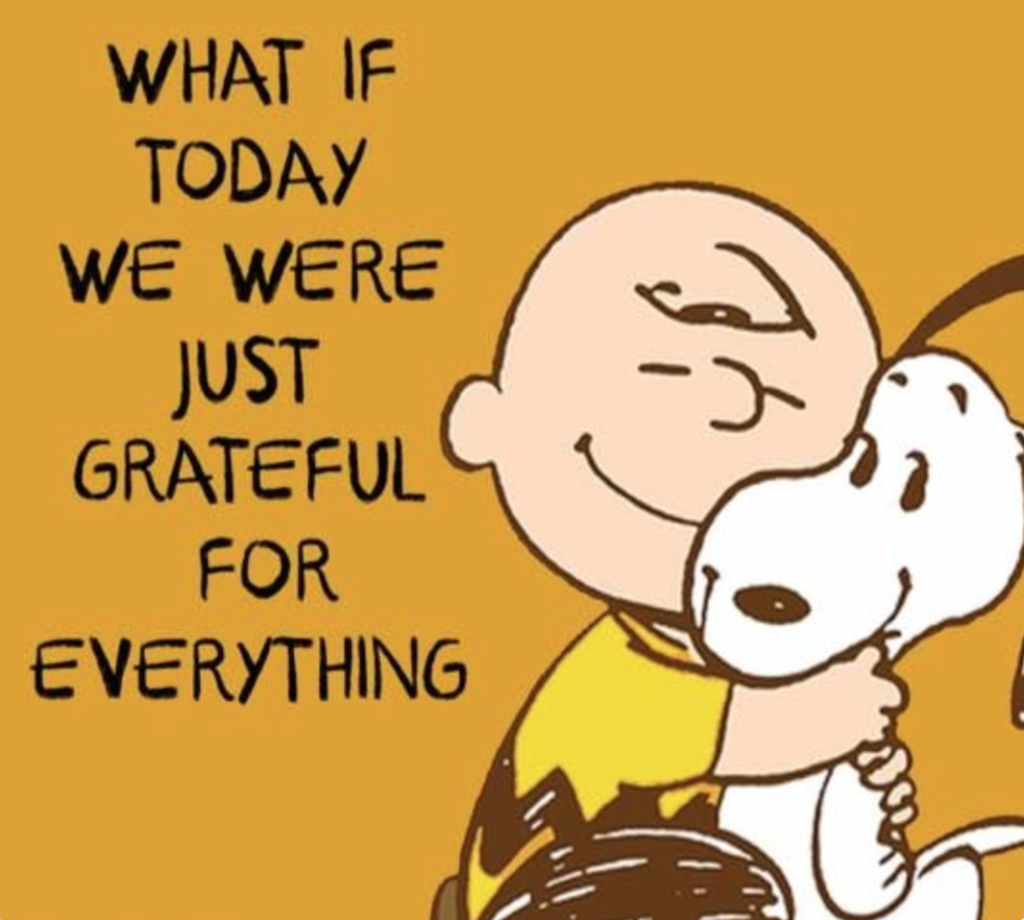 Peanuts Gratitude Thanksgiving
