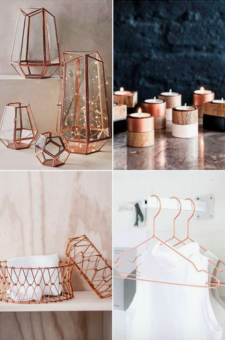 Metal Element - Metal Home Decor. Photo: Pinterest/Praise Wedding