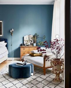 Water Element - Blue Wall. Photo: Pinterest/My Scandinavian Home Blog